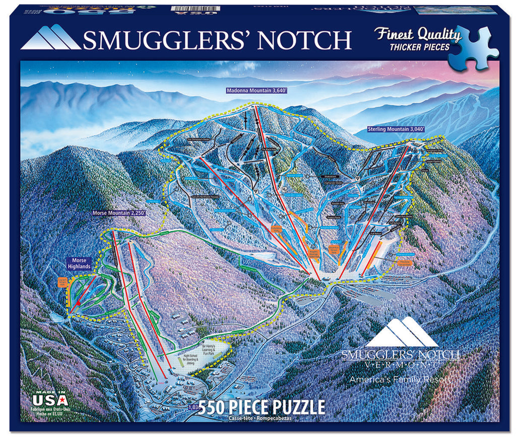 Smuggler's Notch (1364pz) - 550 Piece Jigsaw Puzzle