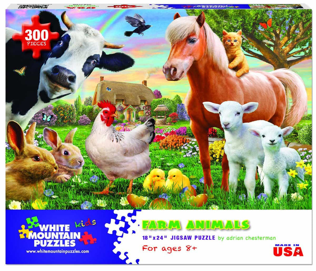 Farm Animals (1368pz) - 300 Piece Jigsaw Puzzle