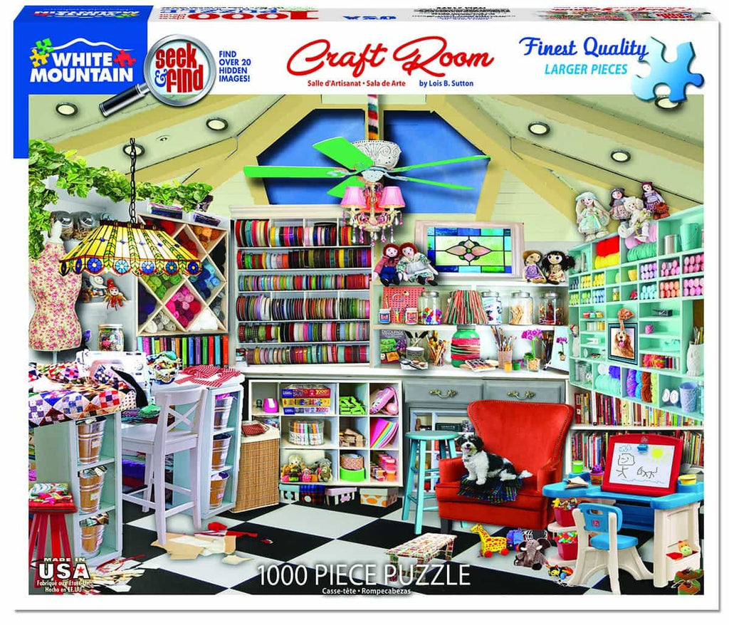 Craft Room-Seek & Find (1372pz) - 1000 Piece Jigsaw Puzzle