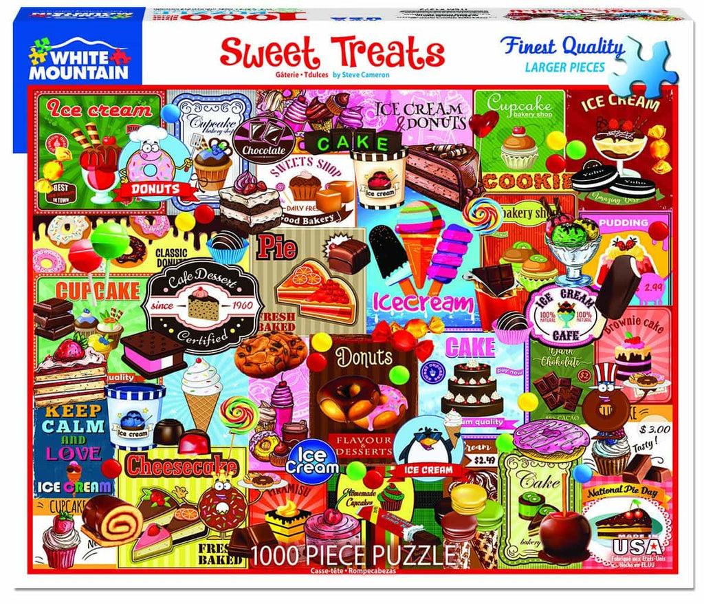 Sweet Treats (1373pz) - 1000 Piece Jigsaw Puzzle