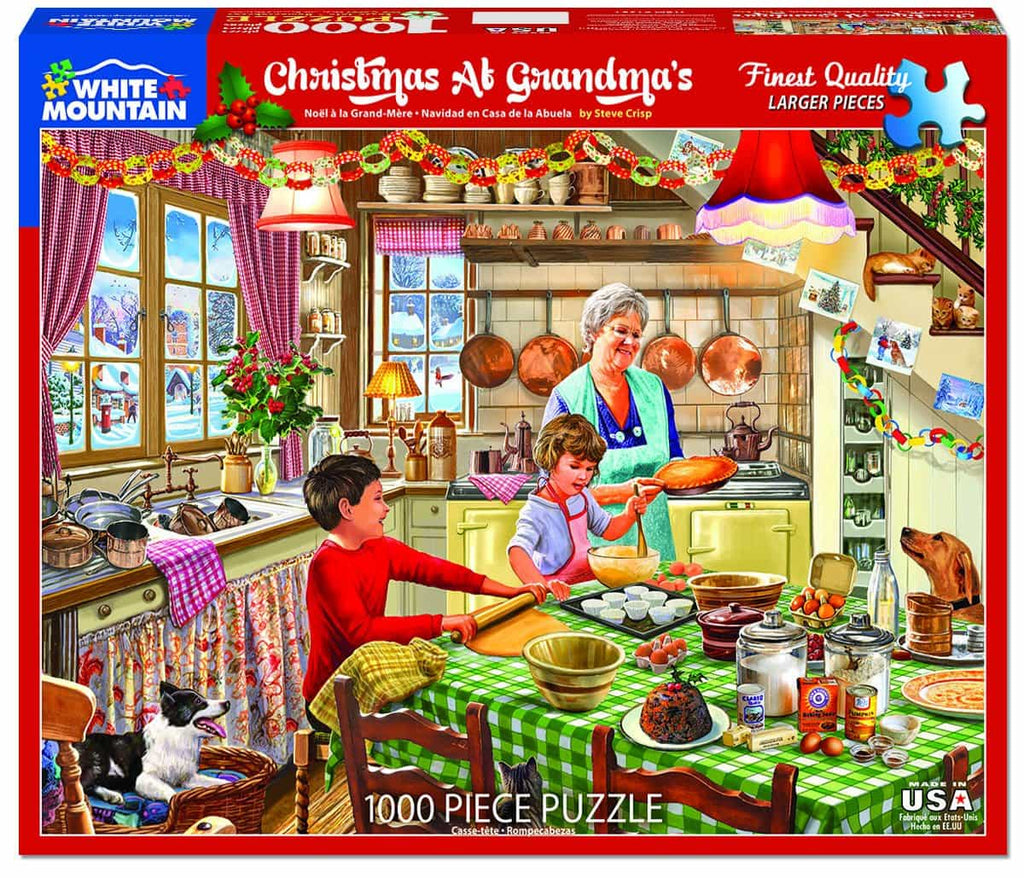 Christmas at Grandma's (1381pz) - 1000 Piece Jigsaw Puzzle