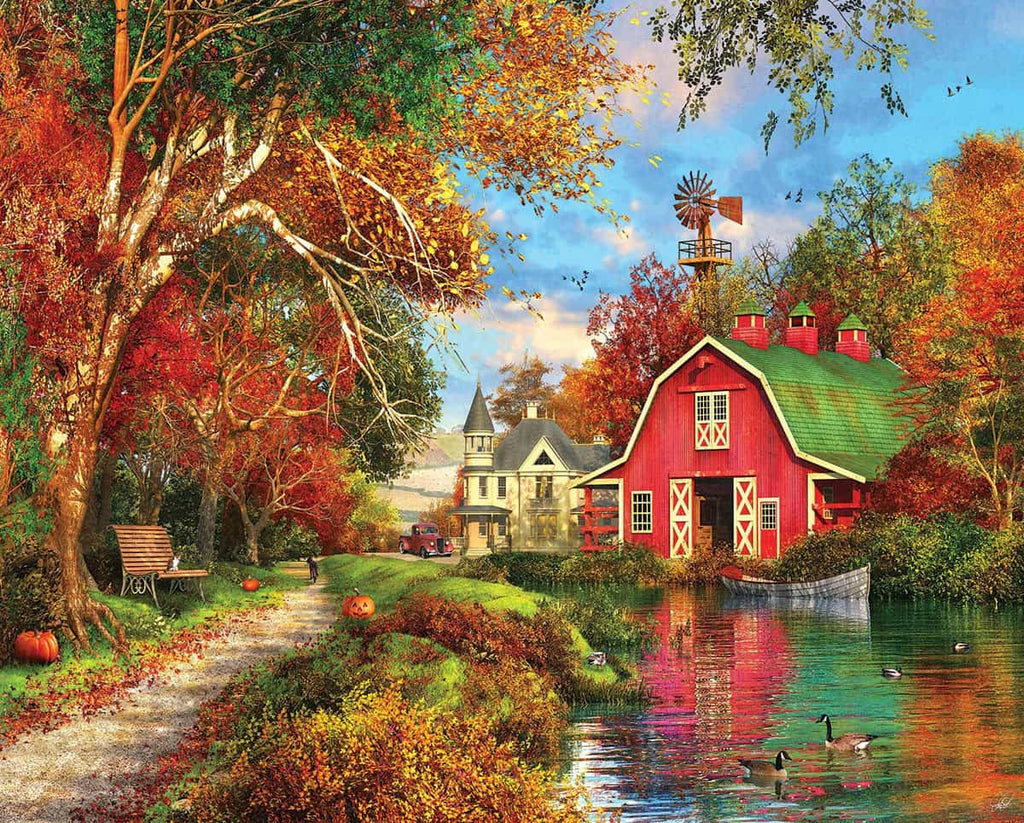 Autumn Barn (1383pz) - 1000 Piece Jigsaw Puzzle