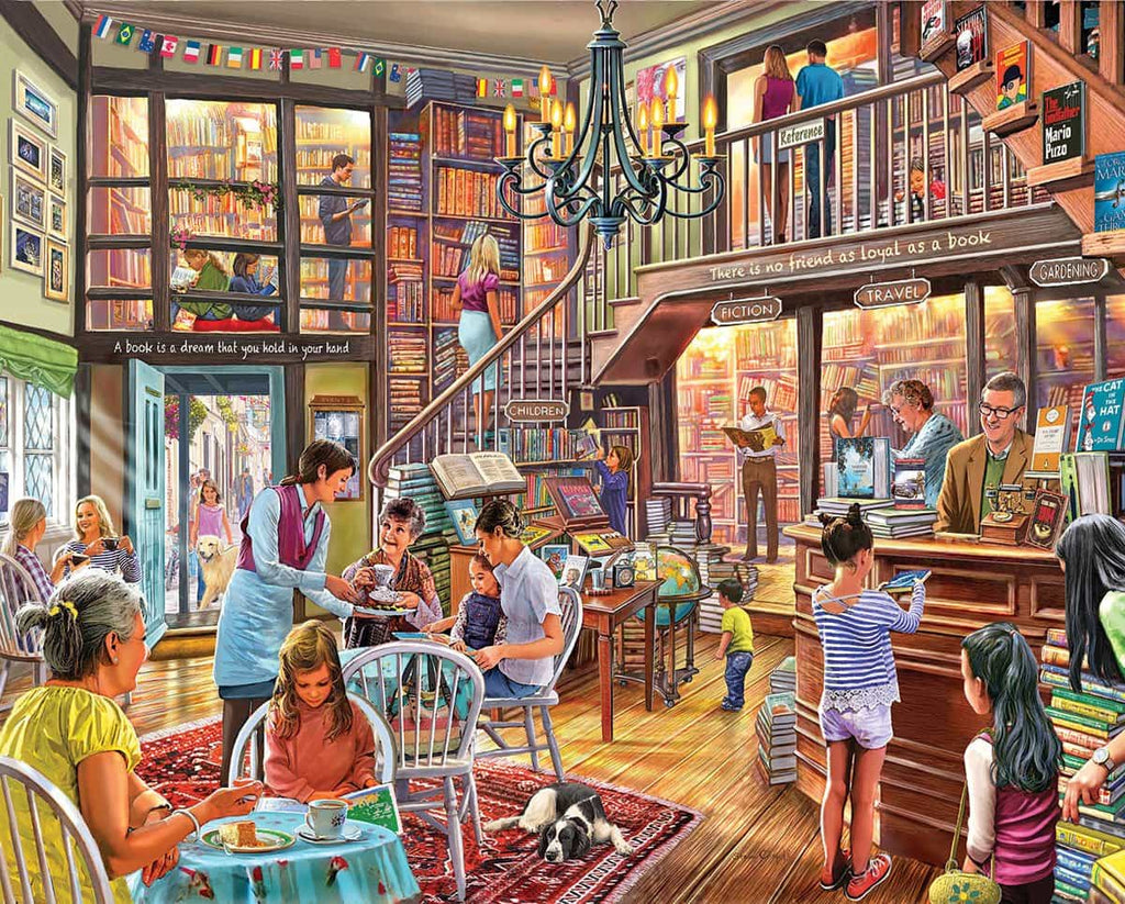 Local Book Store (1386pz) - 1000 Piece Jigsaw Puzzle