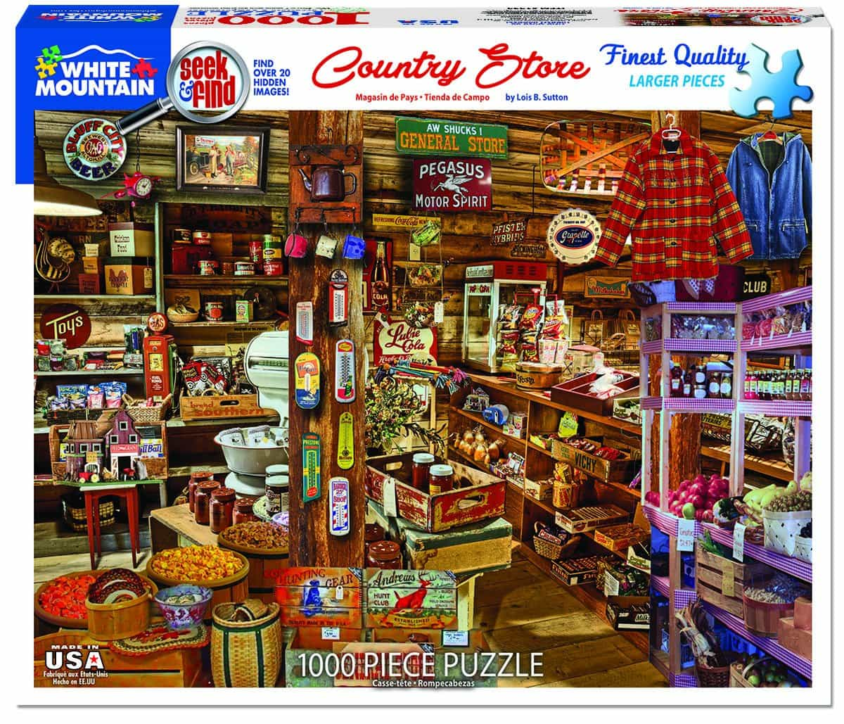 Country Store Seek Find 1000 Pieces White Mountain Puzzles