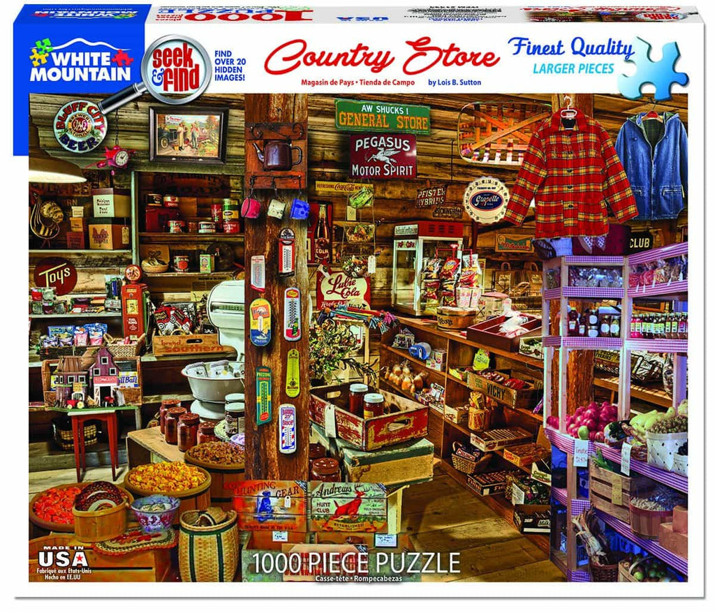 Country Store - Seek & Find (1393pz) - 1000 Piece Jigsaw Puzzles