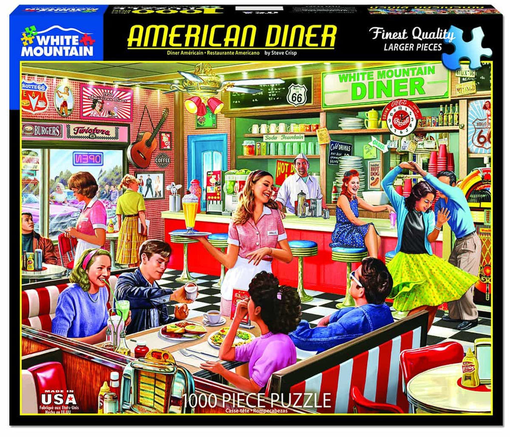 American Diner (1397pz) - 1000 Piece Jigsaw Puzzle