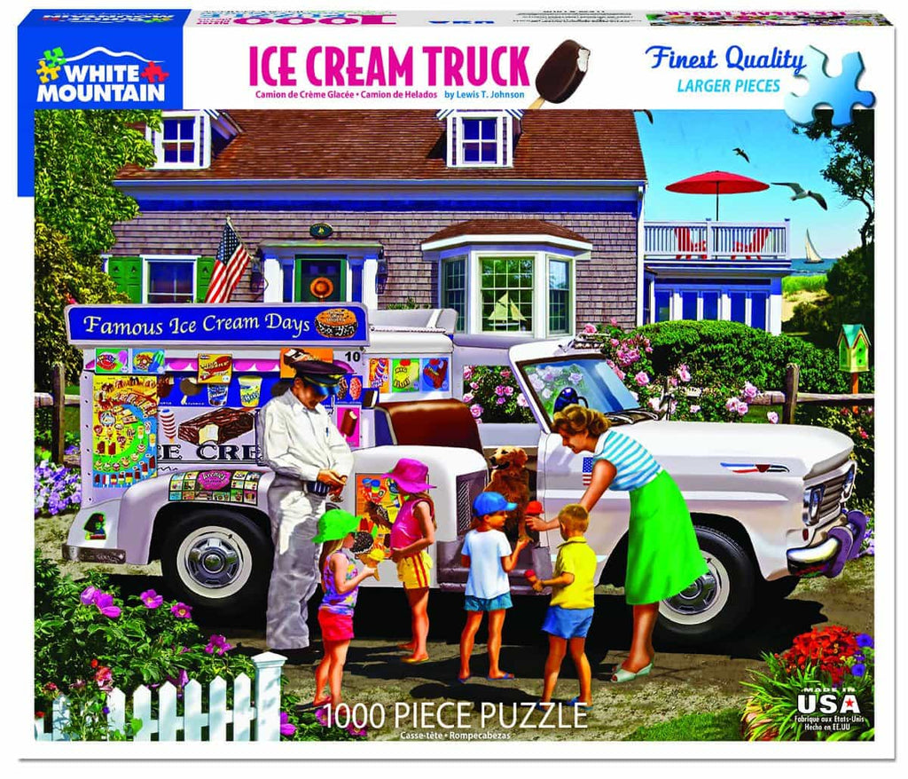 Ice Cream Truck (1406pz) - 1000 Piece Jigsaw Puzzle