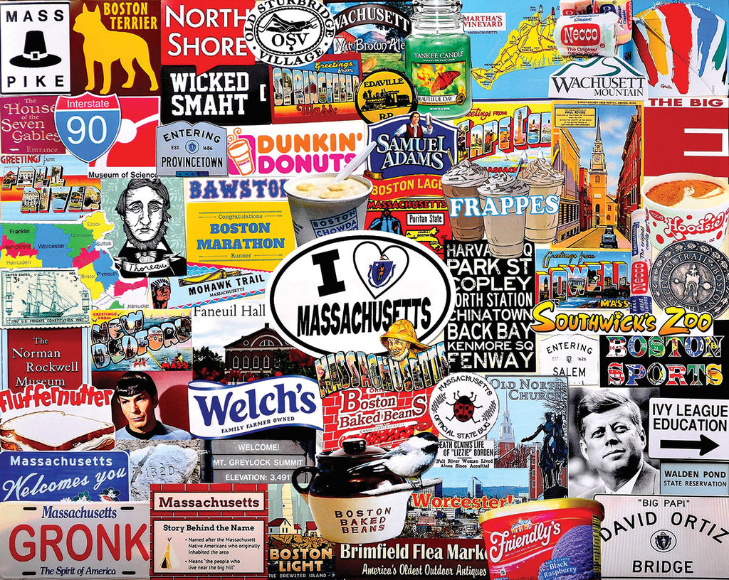 I Love Massachusetts (1408pz) - 1000 Piece Jigsaw Puzzle