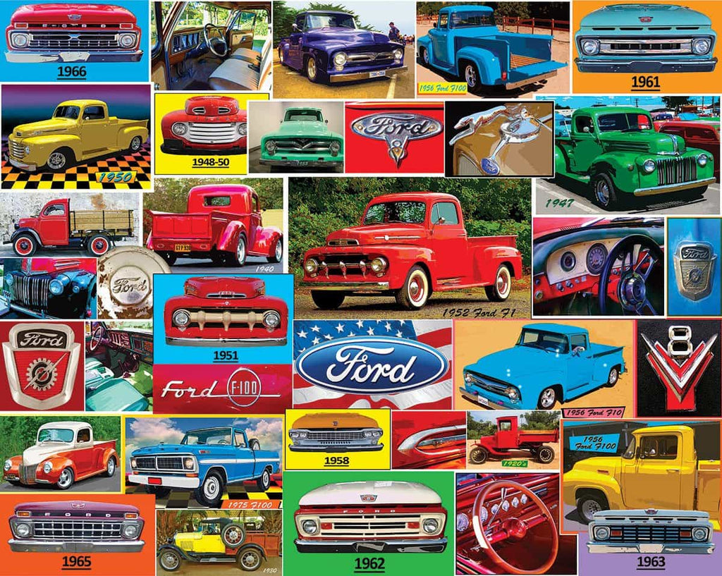 Classic Ford Pickups (1411pz) - 1000 Piece Jigsaw Puzzle