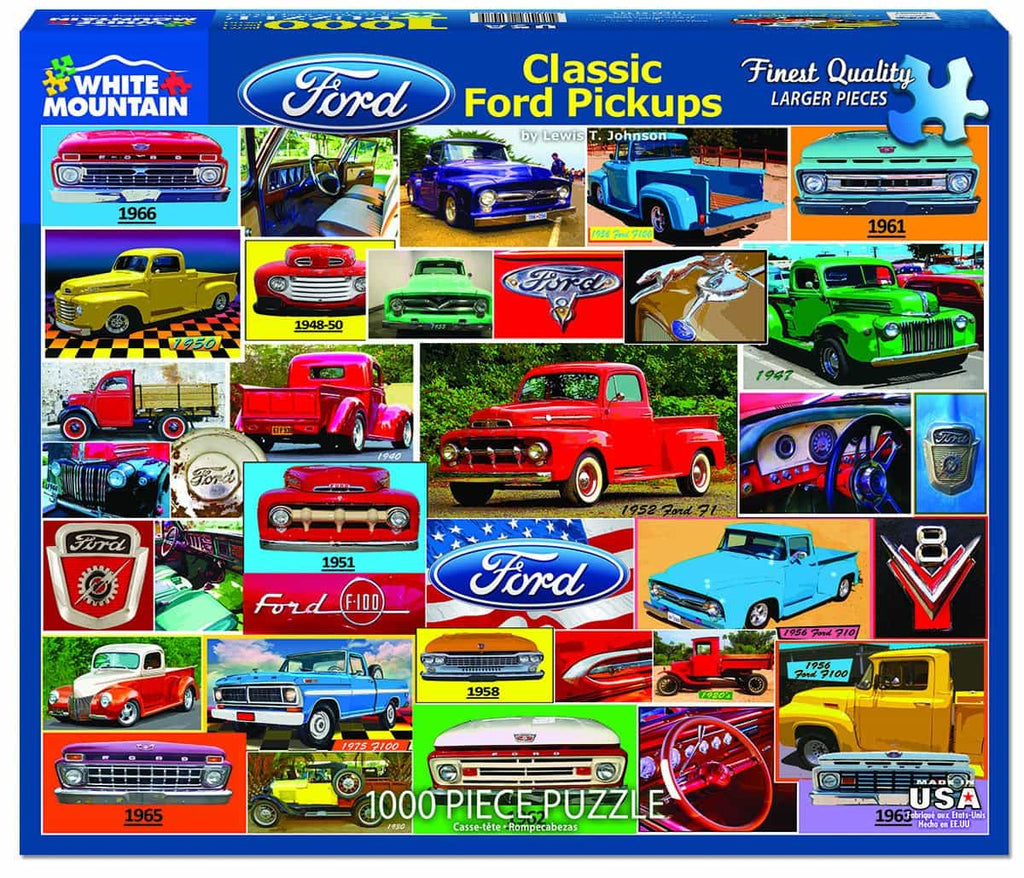 Classic Ford Pickups (1411pz) - 1000 Pieces