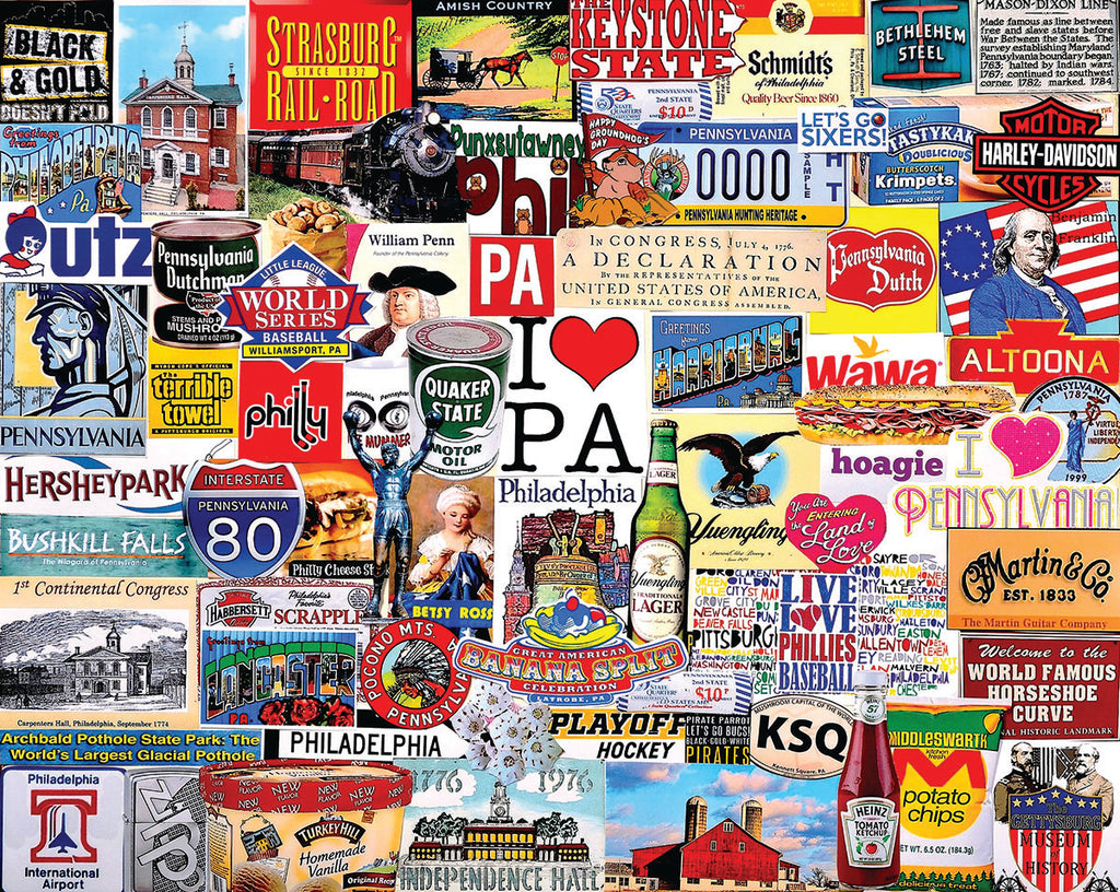 I Love Pennsylvania (1413pz) - 1000 Pieces