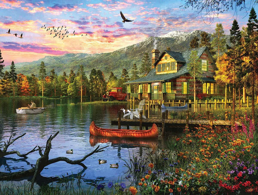 Sunset Cabin (1416PZ) - 550 Piece Jigsaw Puzzle