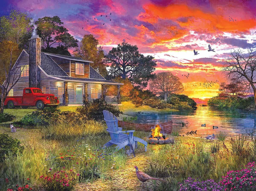 Evening Cabin (1417pz) - 1000 Piece Jigsaw Puzzle