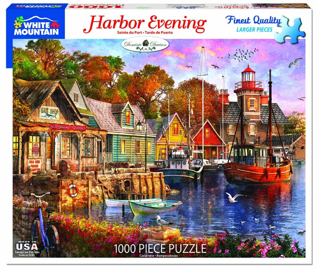 Harbor Evening (1418pz) - 1000 Piece Jigsaw Puzzle