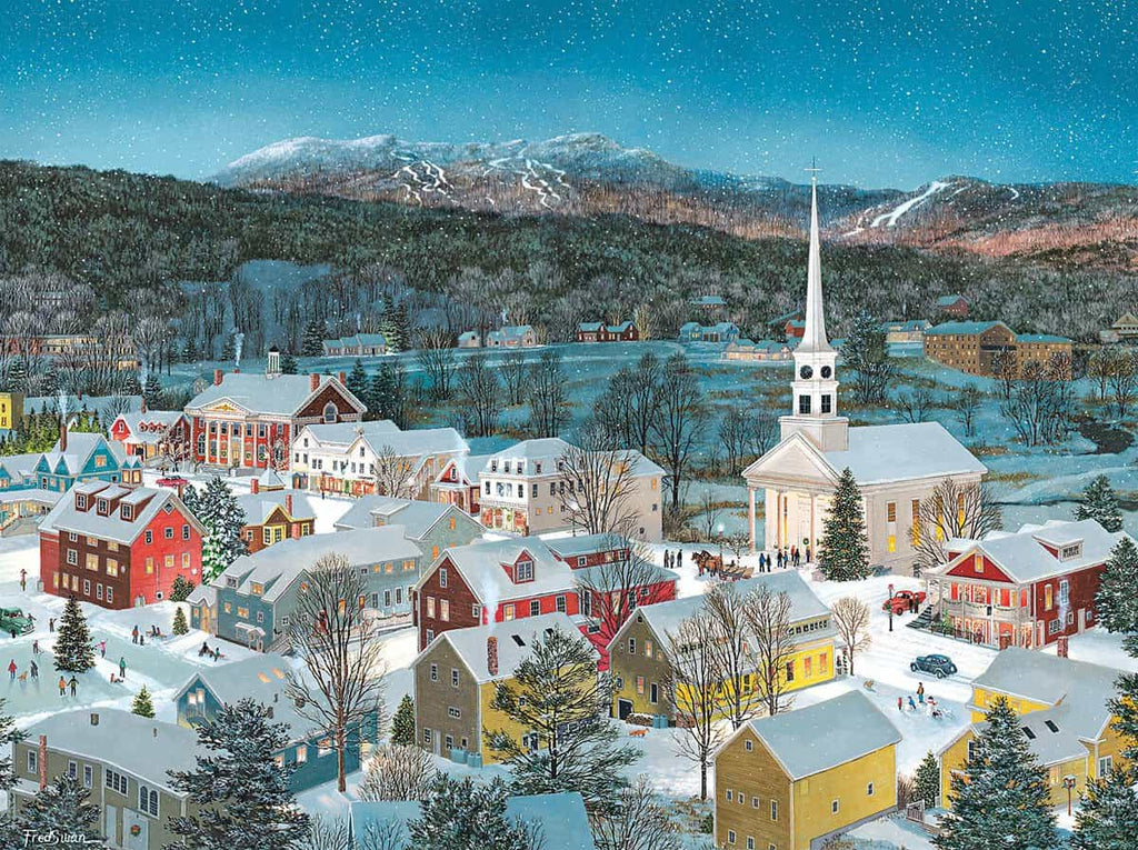 Winter Memories in Stowe VT (1420pz) - 1000 Piece Jigsaw Puzzle