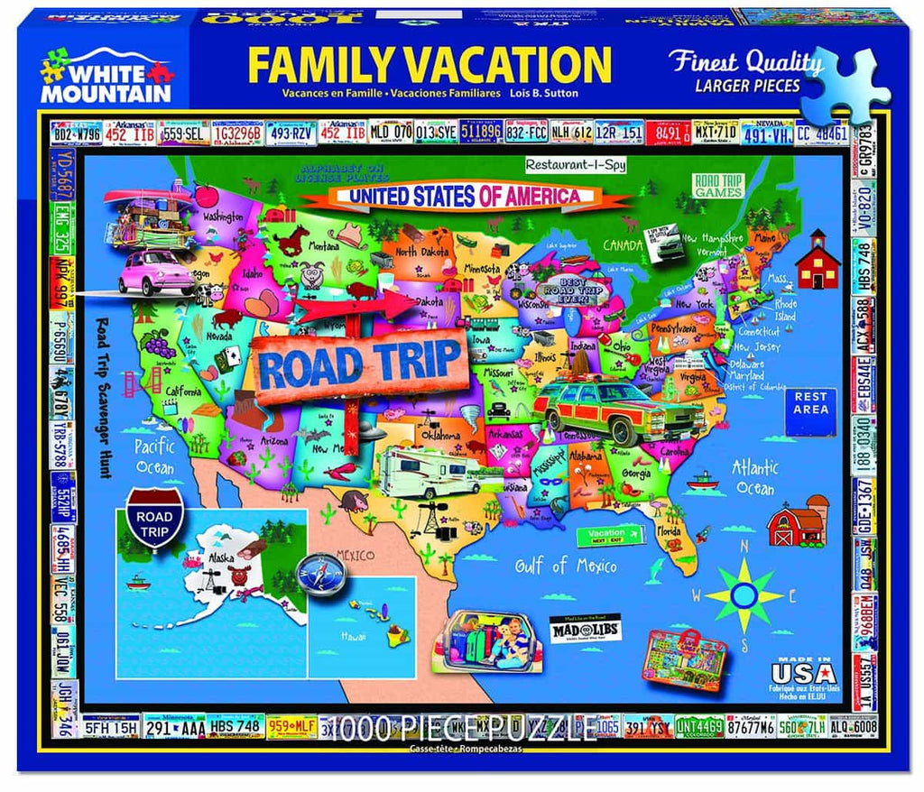 Family Vacation - 1000 Piece Jigsaw Puzzle – White ...