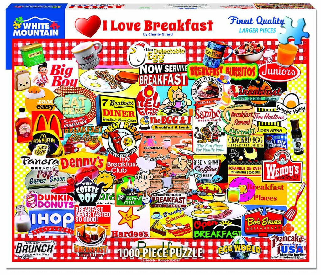 I Love Breakfast - 1000 Pieces