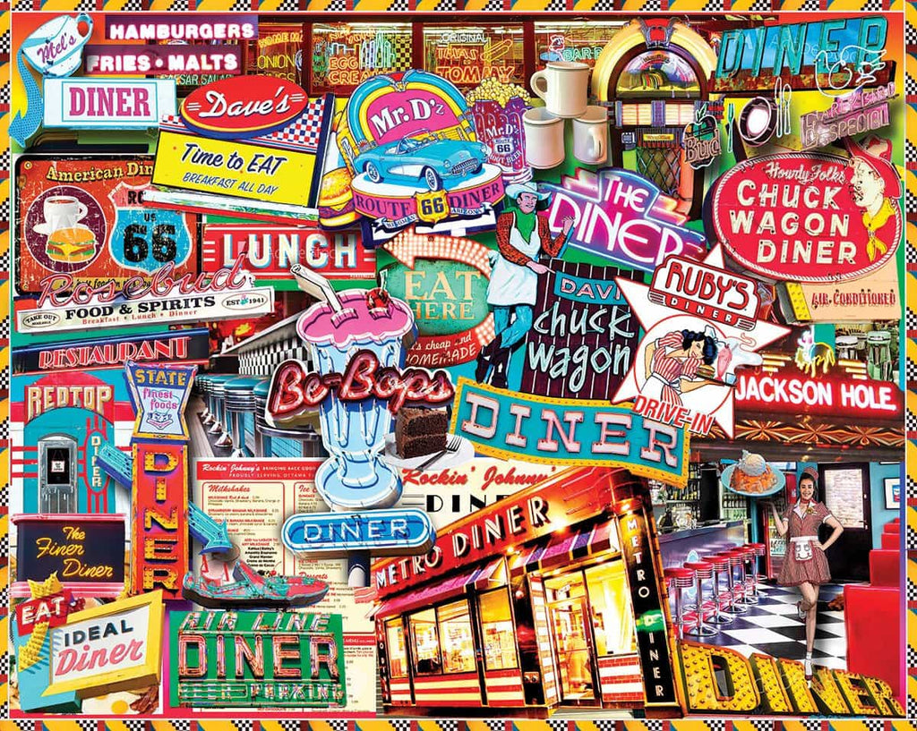 Retro Diner (1445pz) - 1000 Pieces