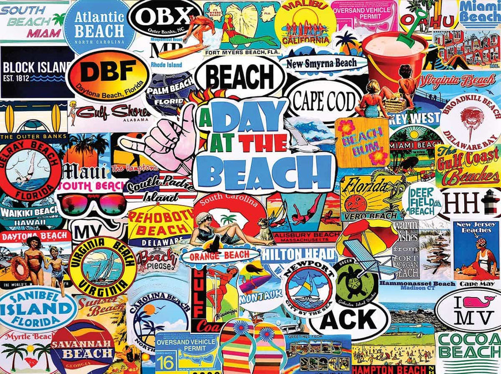 A Day At The Beach - 1000 Pieces