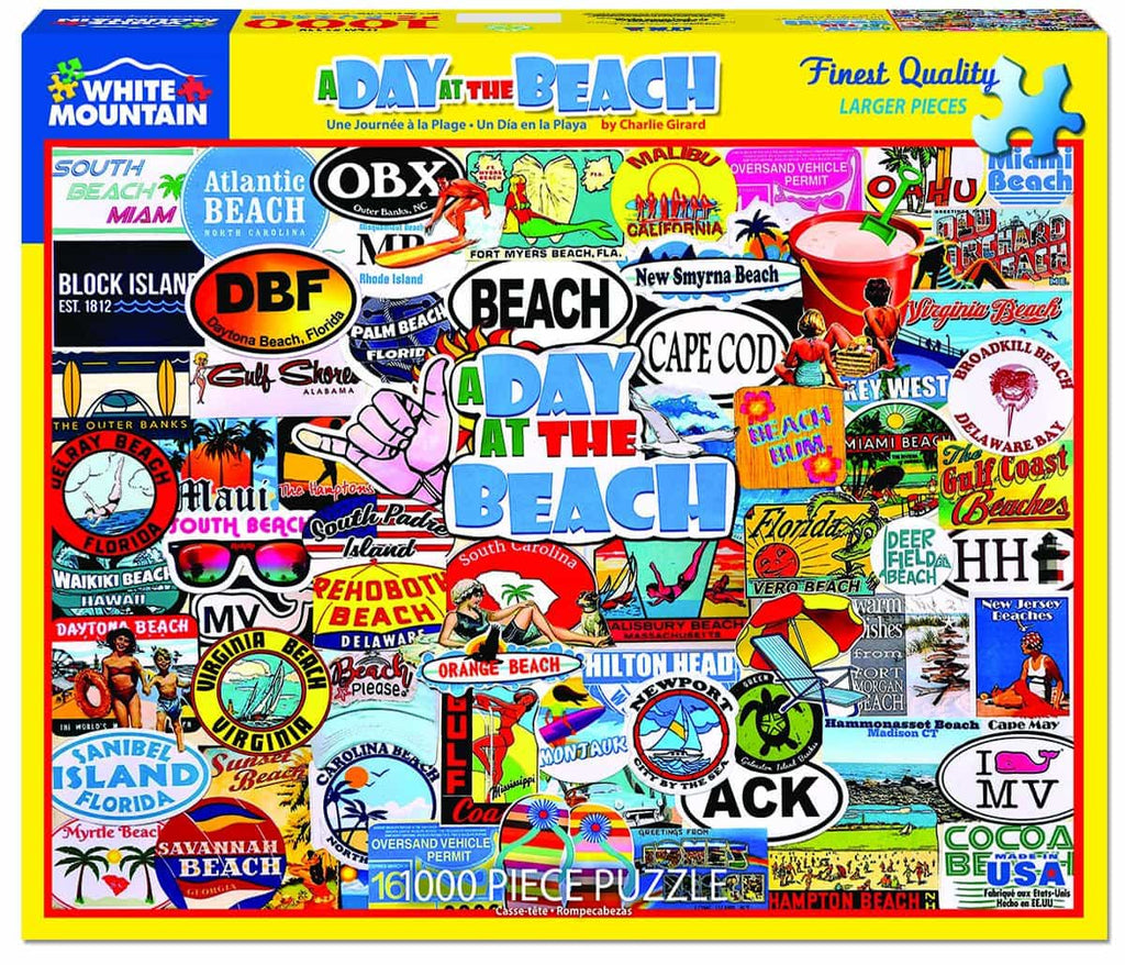 A Day At The Beach (1448pz) - 1000 Piece Jigsaw Puzzle