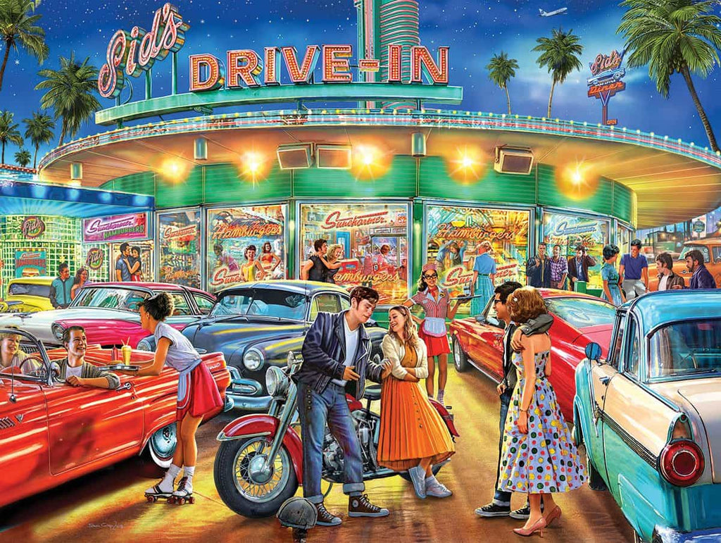 American Drive-In (1450pz) - 1000 Piece Jigsaw Puzzle