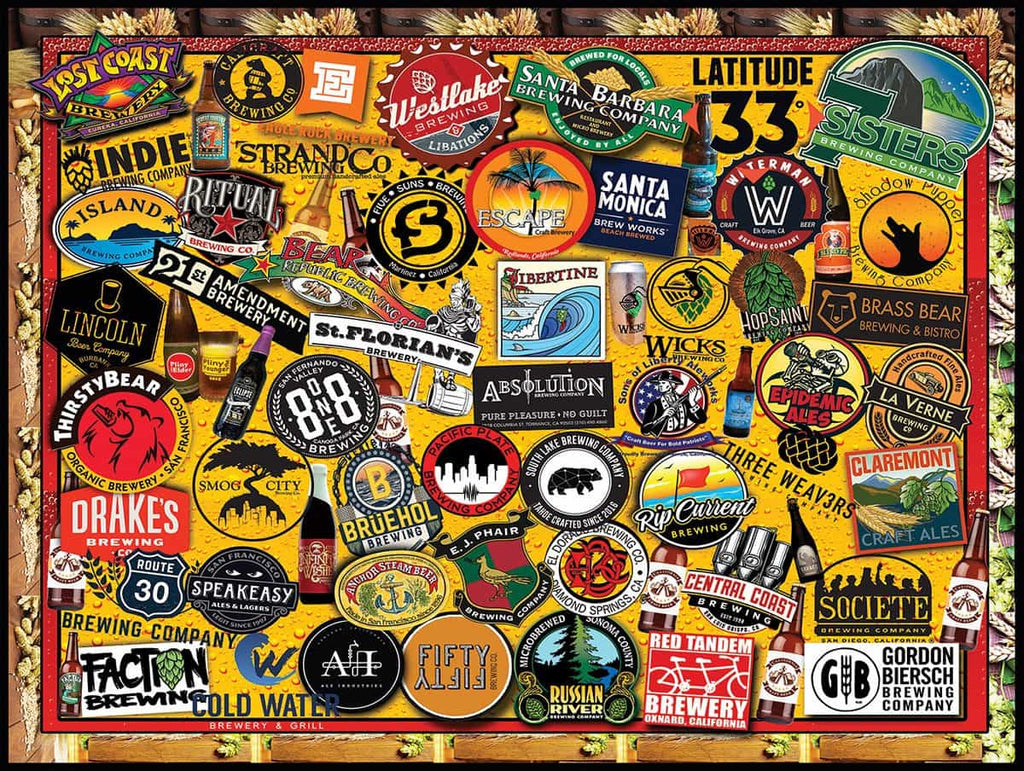 California Craft Beer - 1000 Pieces