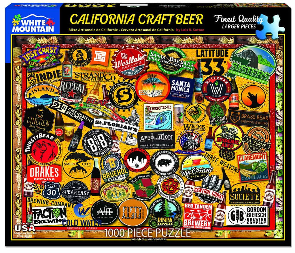 California Craft Beer (1454pz) - 1000 Piece Jigsaw Puzzle