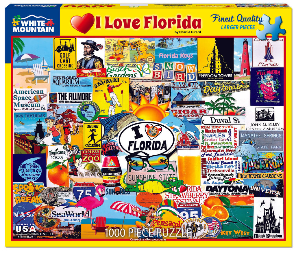 I Love Florida - 1000 Pieces
