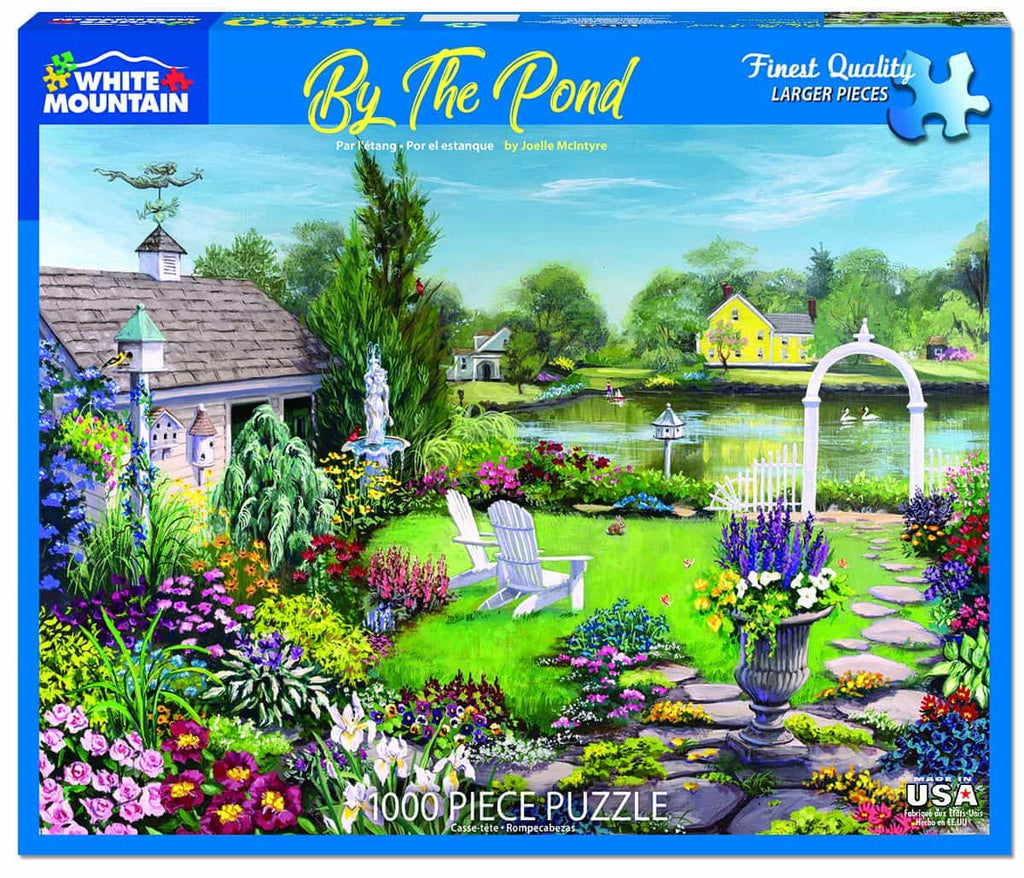 By The Pond (1456pz) - 1000 Piece Jigsaw Puzzle