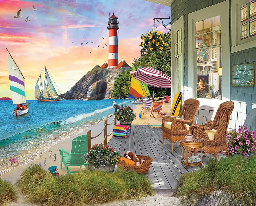 Beach Vacation (1458pz) - 1000 Piece Jigsaw Puzzle