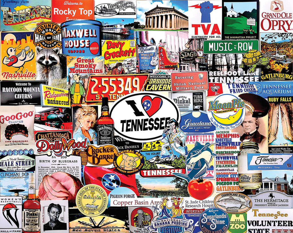 I Love Tennessee (1466pz) - 1000 Piece Jigsaw Puzzle