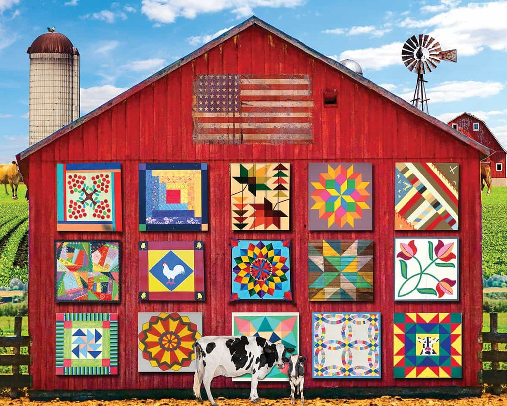 Barn Quilts - 1000 Piece Jigsaw Puzzle - White Mountain ...