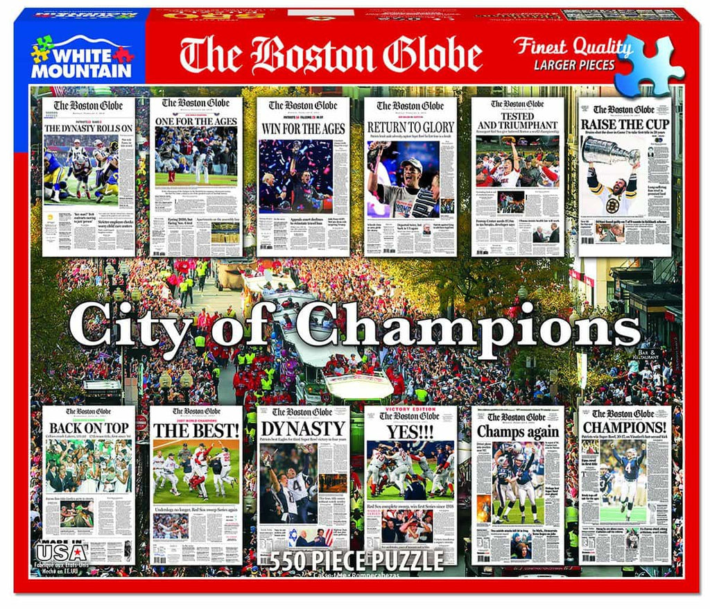 Boston City of Champions (1477PZ) - 550 Piece Jigsaw Puzzle