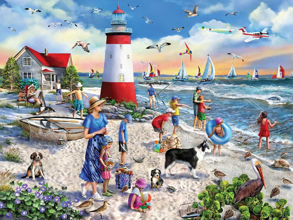 Lighthouse Beach (1478PZ) - 550 Piece Jigsaw Puzzle