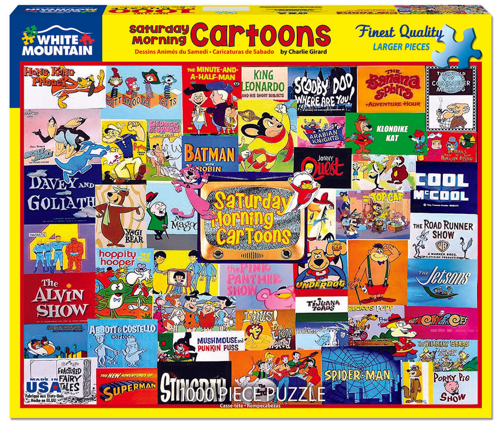 Saturday Morning Cartoons (1481pz) - 1000 Piece Jigsaw Puzzles