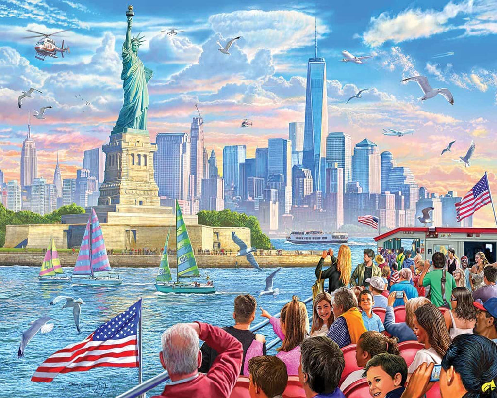 Statue of Liberty (1483pz) - 1000 Piece Jigsaw Puzzle