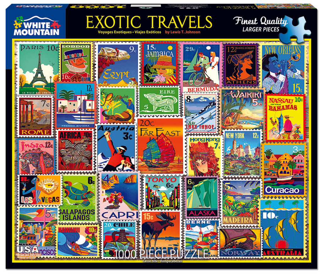 Exotic Travels (1484pz) - 1000 Piece Jigsaw Puzzle
