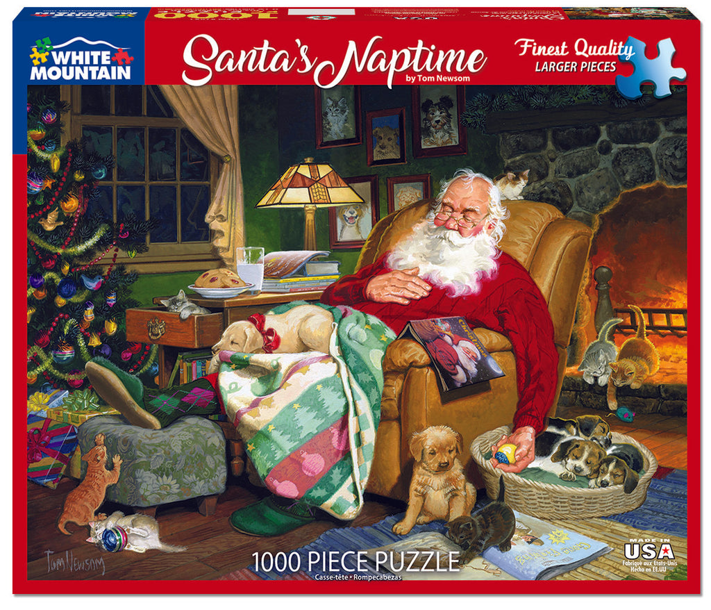 Santa's Naptime (1487pz) - 1000 Pieces