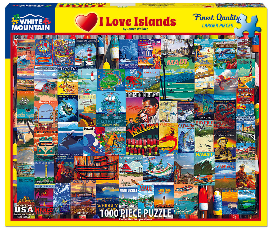 I Love Islands (1489pz) -  1000 Piece Jigsaw Puzzle