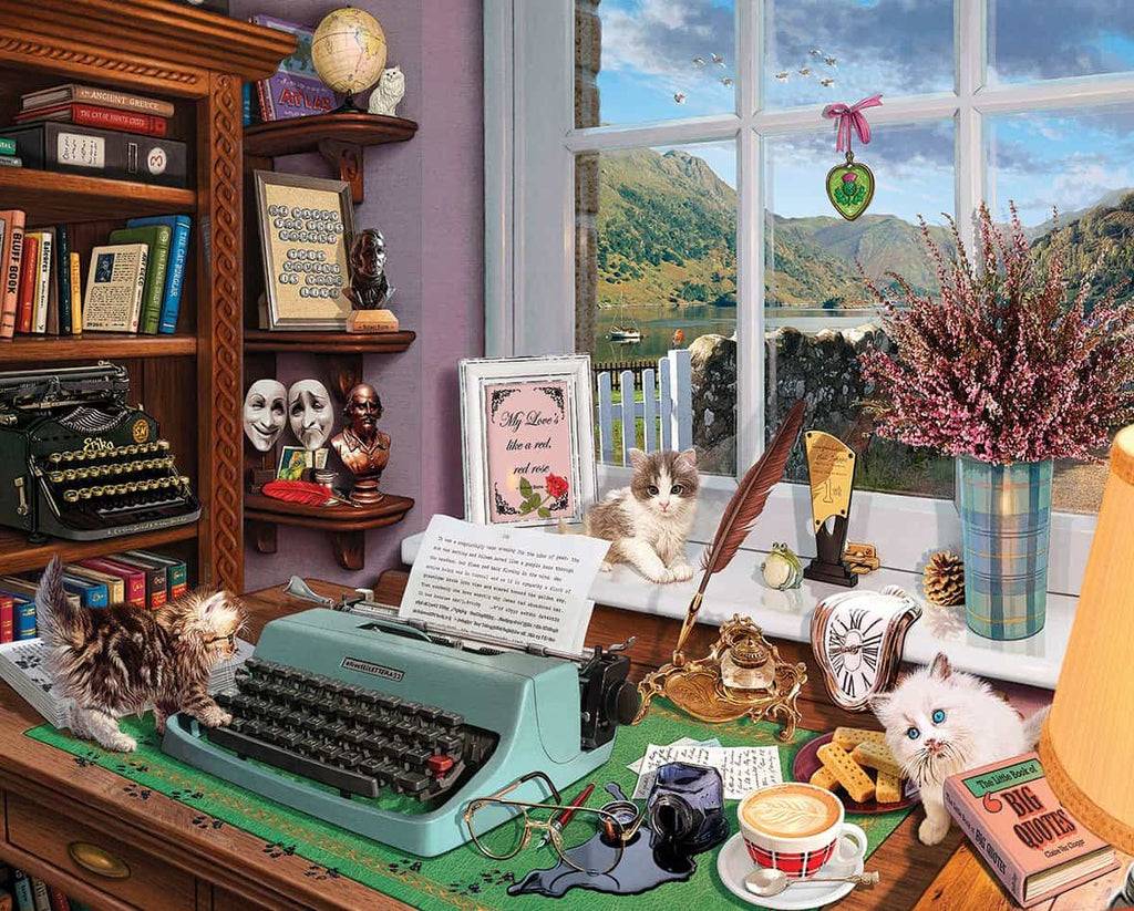 Writer's Desk (1493pz) - 1000 Piece Jigsaw Puzzle
