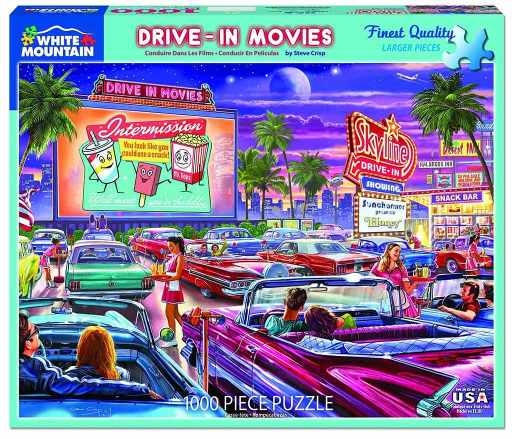 Drive-In Movie (1495pz) - 1000 Piece Jigsaw Puzzle