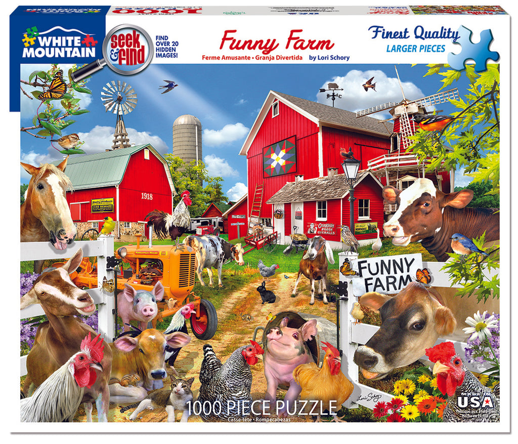 Funny Farm Seek & Find (1497PZ) - 1000 Pieces