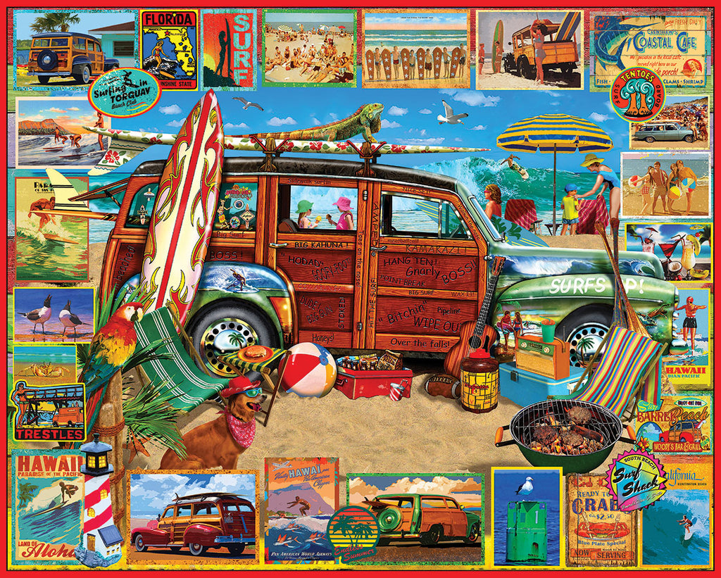 Surfin Woodie (1501PZ) - 1000 Piece Jigsaw Puzzle