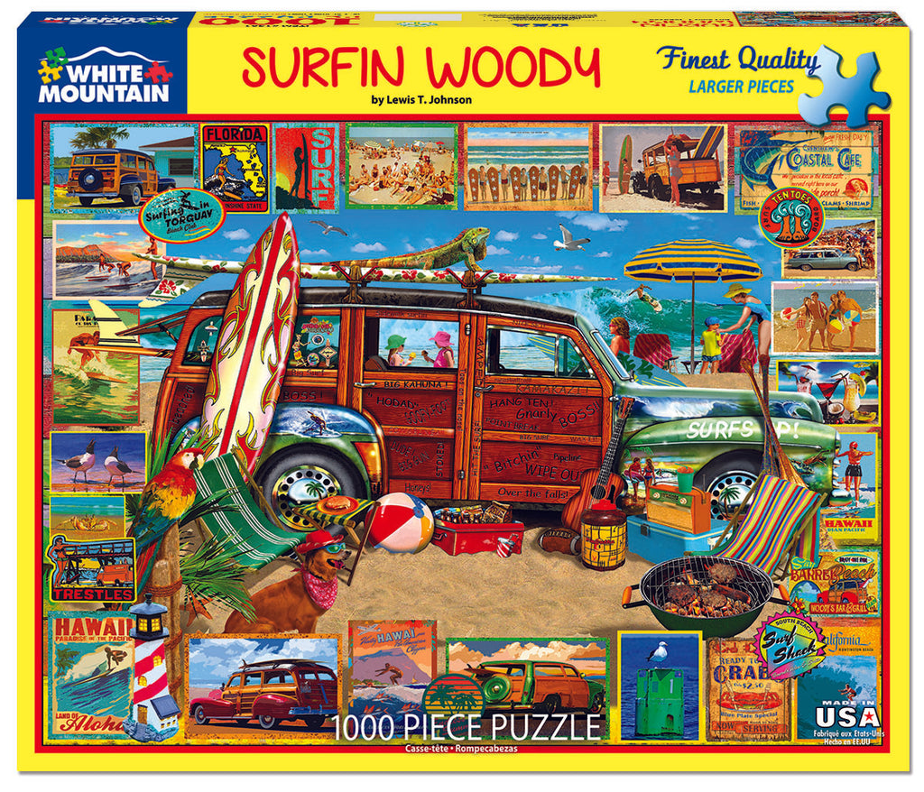 Surfin Woodie - 1000 Piece Puzzle