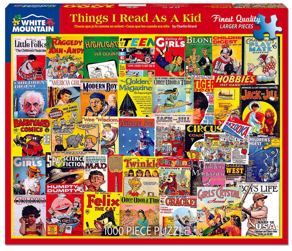 Things I Read as a Kid (1503PZ) - 1000 Piece Jigsaw Puzzle