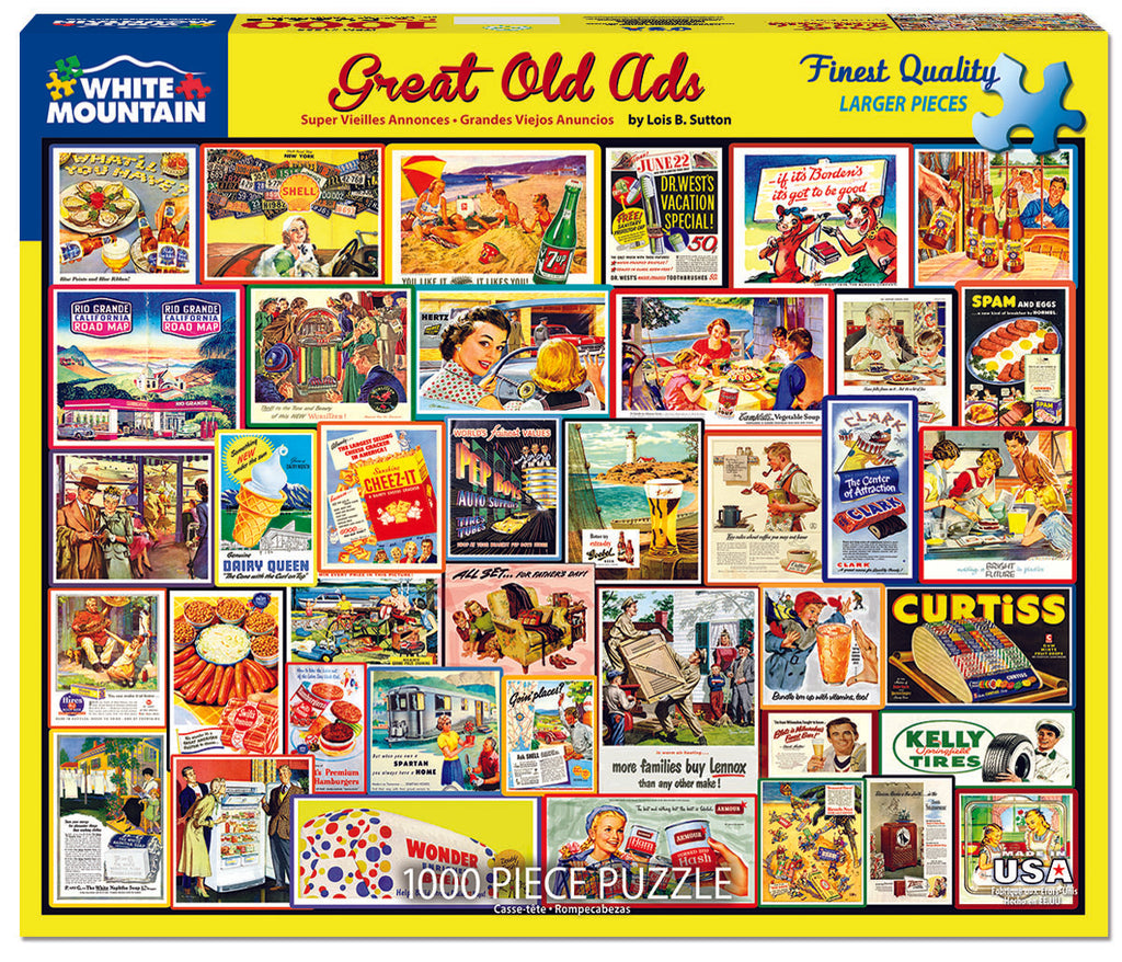 Great Old Ads (1505PZ) - 1000 Piece Jigsaw Puzzle