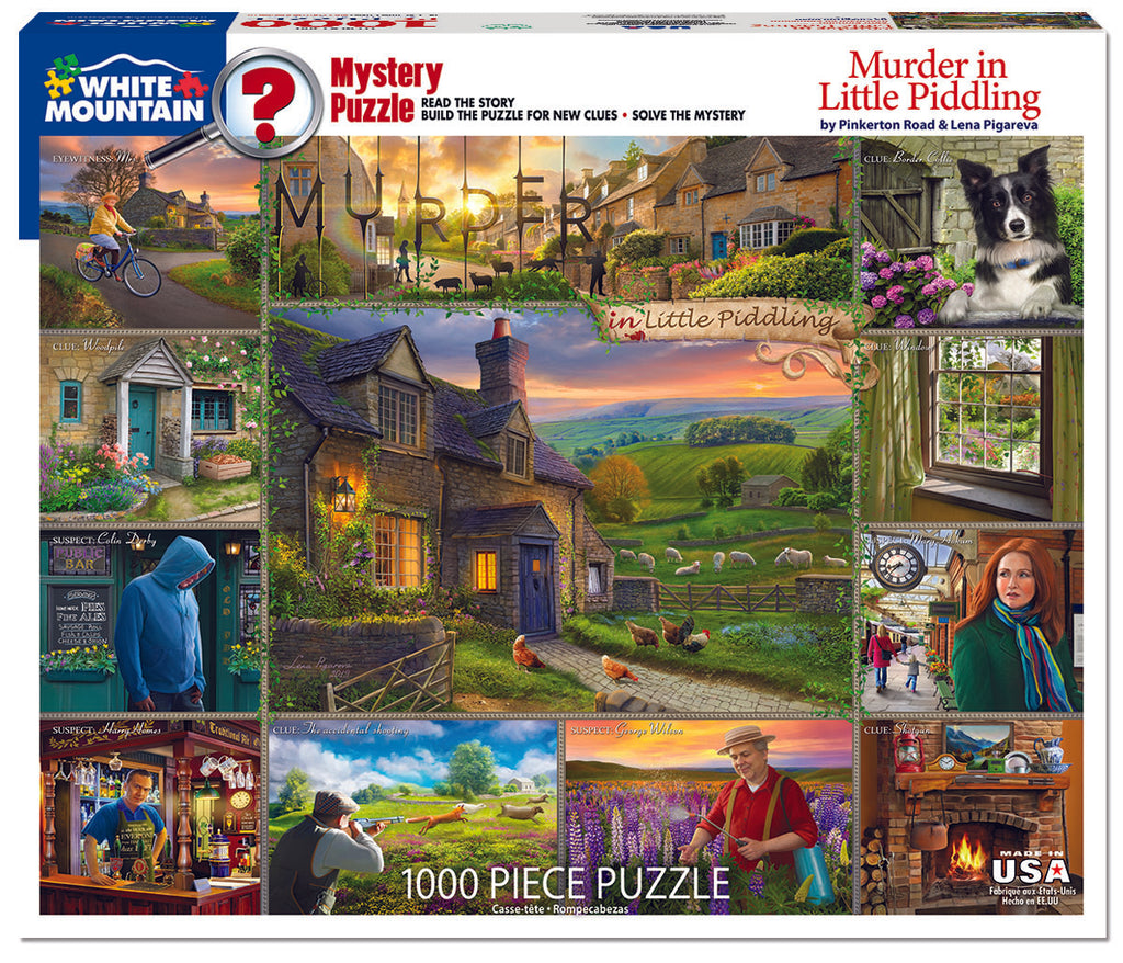 Murder in Little Piddling (1506pz) - 1000 Piece Jigsaw Puzzle