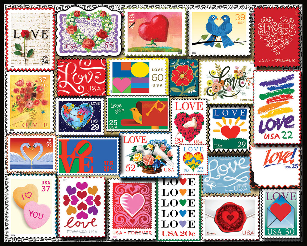 Love Stamps (1510pz) - 1000 Pieces