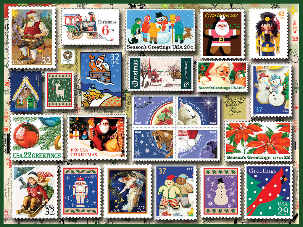 Holiday Stamps (1515pz) - 550 Piece Jigsaw Puzzle