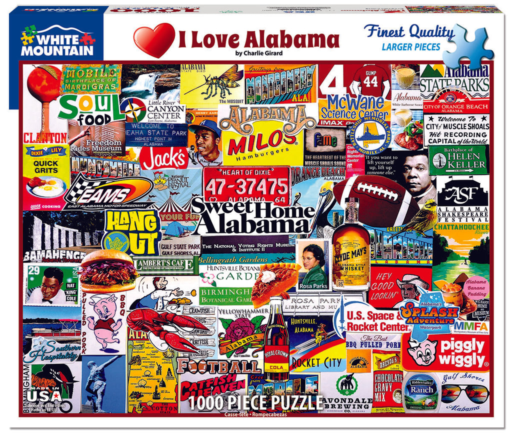I Love Alabama (1516PZ) - 1000 Piece Jigsaw Puzzle